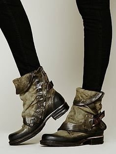geeeeez i love this italian shoemaker airstep..... with their simply amazing detail.... and this olive green is gorgeous.... Emerson Ankle Boot...... by A.S. 98...... for free people.....