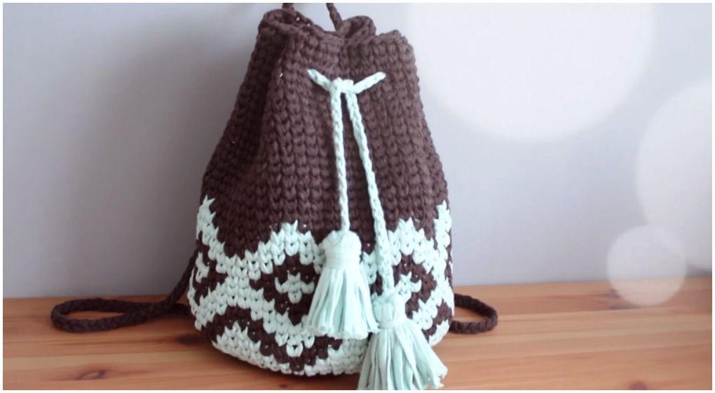 Crochet Beautiful Backpack Free Pattern [Video] | Crochet & Knitting ...