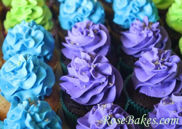 Peacock Cupcakes for a Bridal Shower