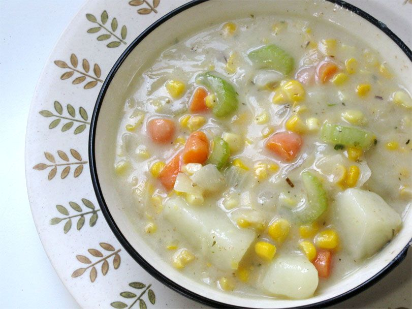 Creamy Vegan Potato and Corn Chowder | Live. Learn. Love ...