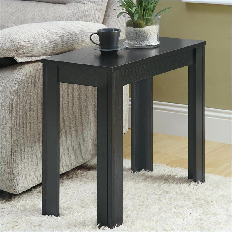 Monarch Accent End Table In Black Oak In 2020 Black End Tables
