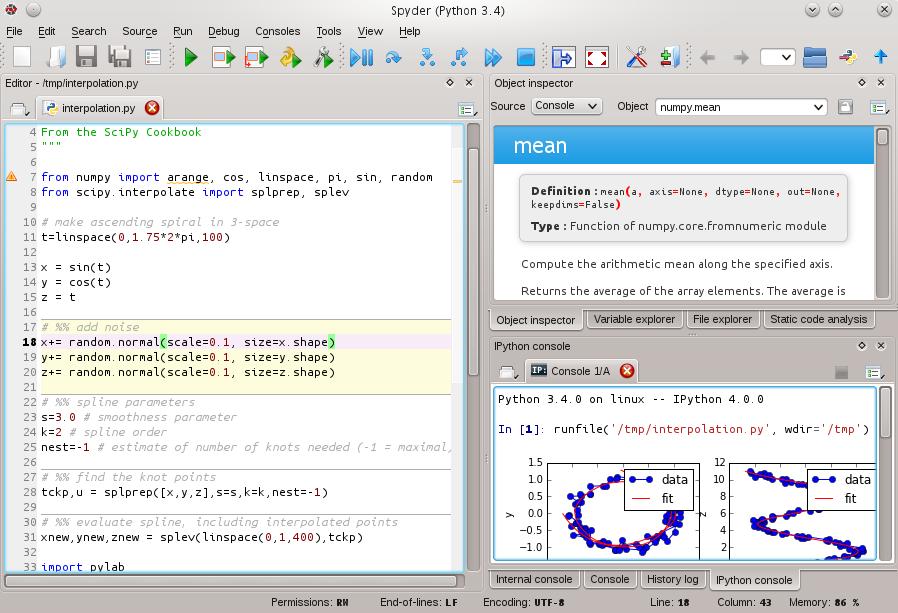 Spyder Python IDE Screenshot Python, Coding, Computer