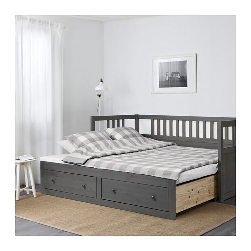Hemnes Daybed Frame With Storage Dark Gray Stained Ikea Ikea