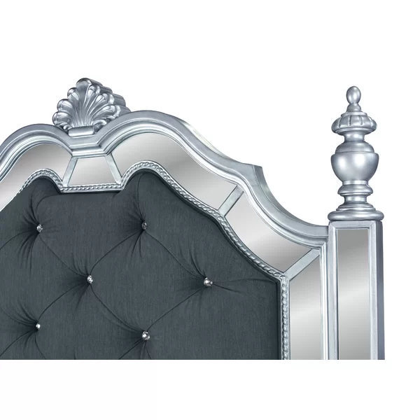 Waddell Upholstered Four Poster Bed Four poster bed