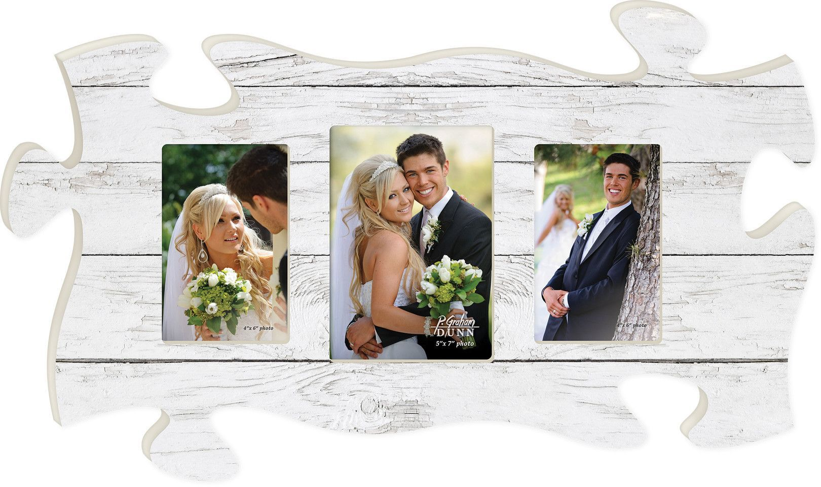 A Triple Puzzle Photo Frame - choose from 5 colors | Photo hanging ...