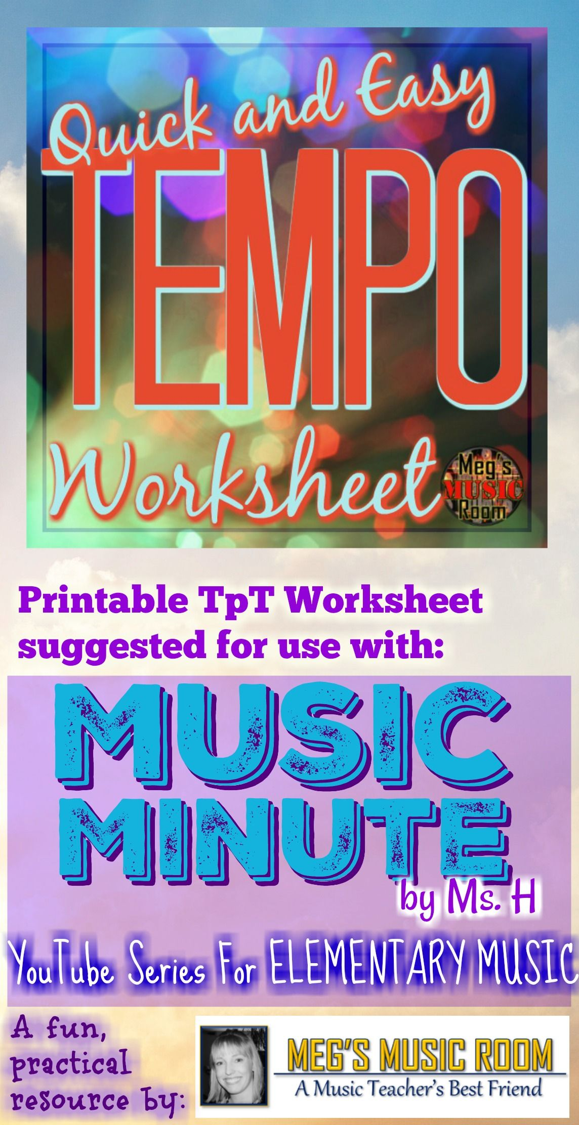 Tempo Worksheet And Video For Elementary Music Class