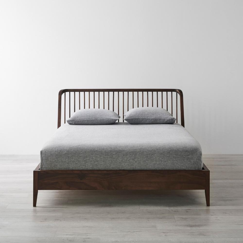 Spindle Walnut Bed Queen in 2020 Queen beds, Minimal bed