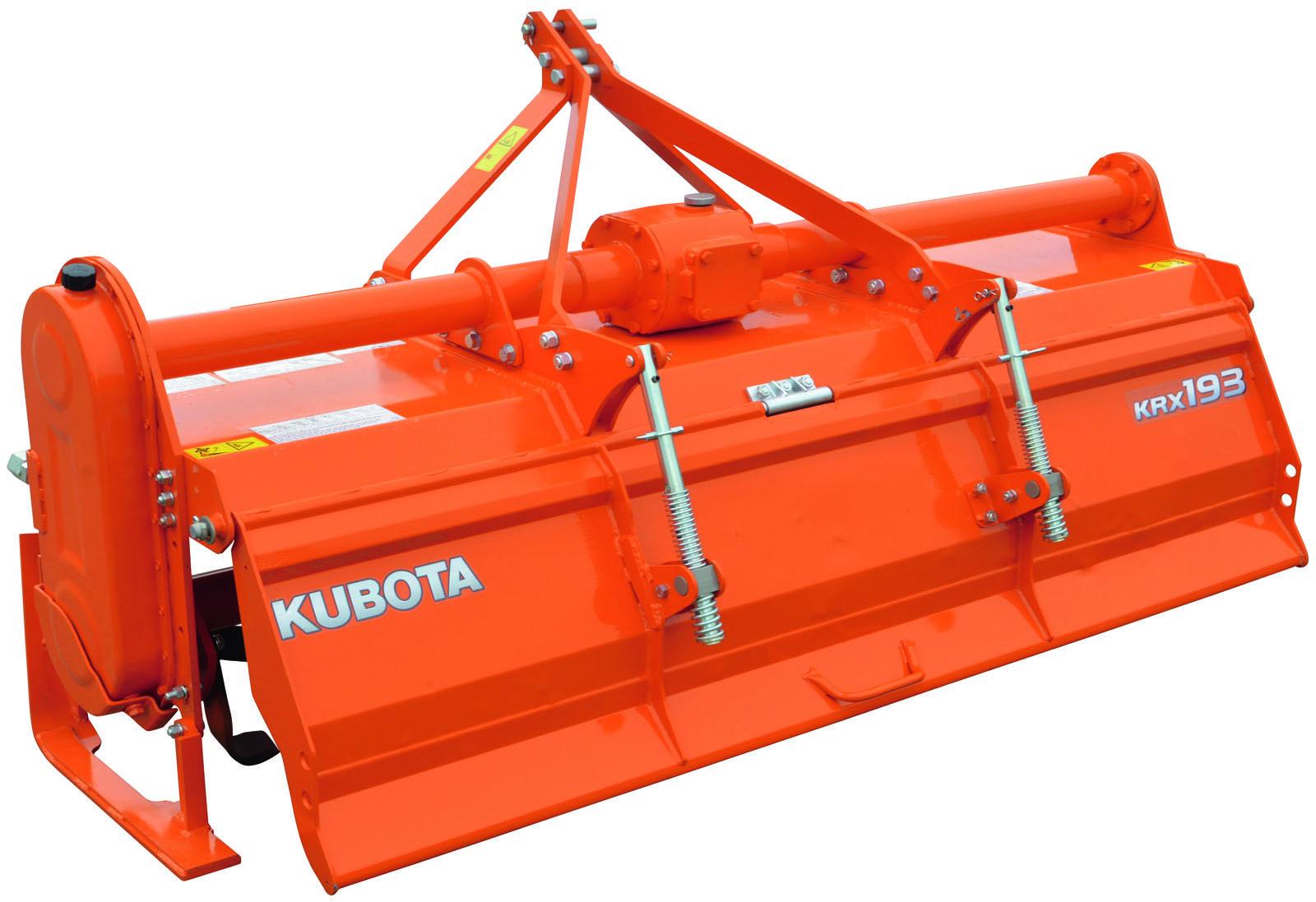 Kubota implements Rotary Tiller: KRX164 - KRX175 - KRX71D