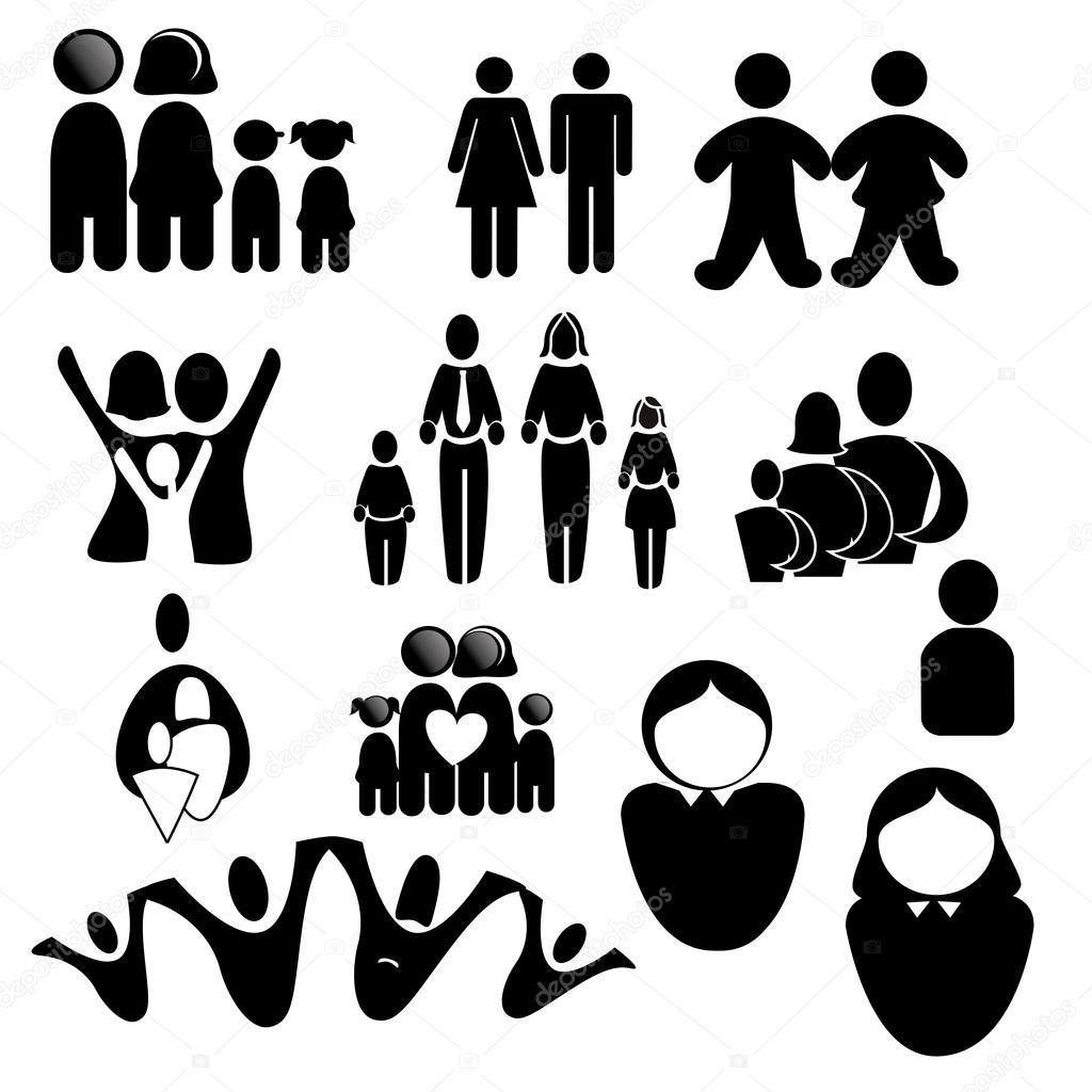 Resultado De Imagen Para Familia Silueta Vector Familia Silueta