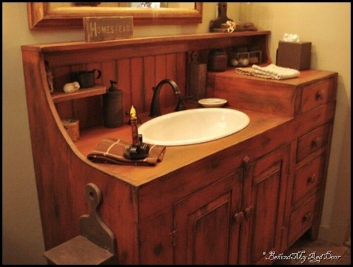 Photo Gallery In Website Bathroom sink I have had sinks made out of baby changing tables as well as sn older dresser before I love looking at an used piece of furniture and thinking