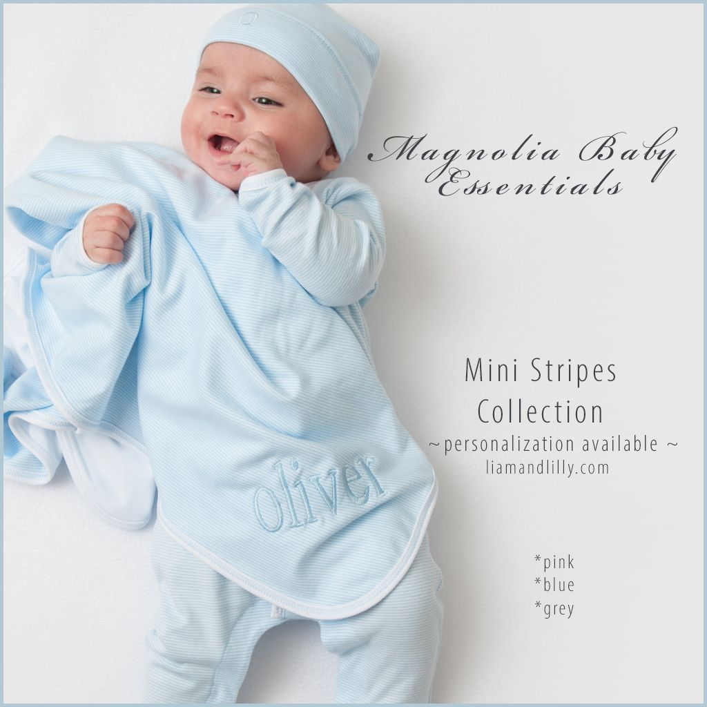 Magnolia Baby Baby Boy Striped Essentials Long Pajamas Blue
