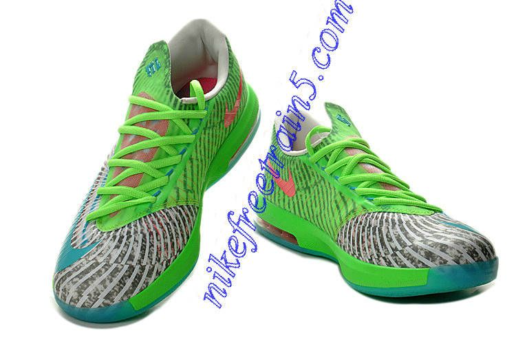 Big Discount  66 OFF Girls Nike KD 6 Bamboo Gamma GreenFlash LimeRaw UmberLinenDeep Smoke