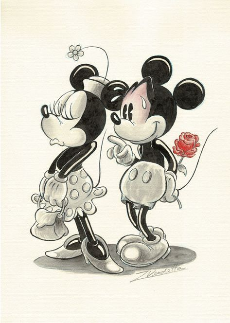 Vendetta Z Original Drawing Minnie Mickey Mouse In