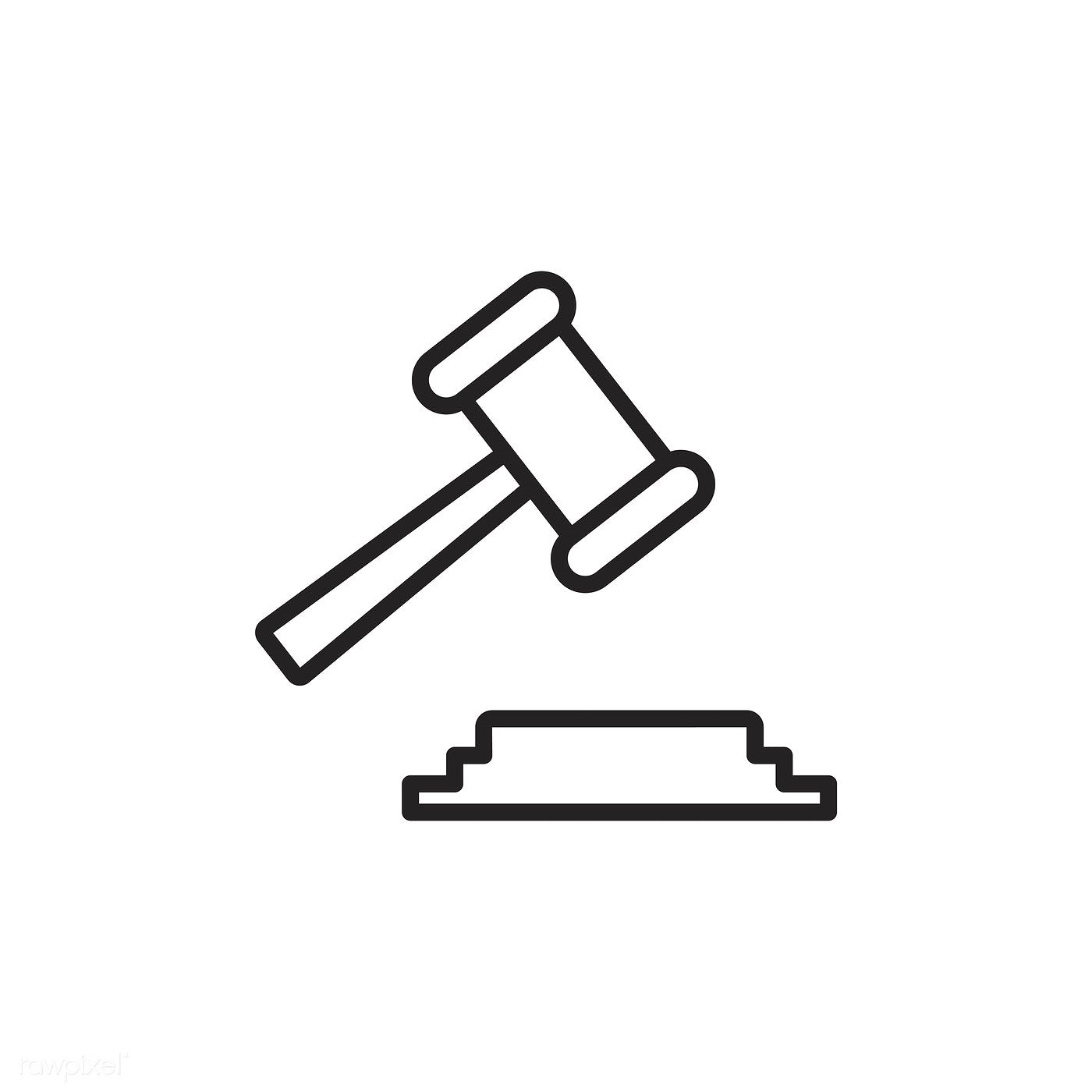 Gavel Icon Vector Free Image By Rawpixel Com In 2021 Vector Free Vector Icon