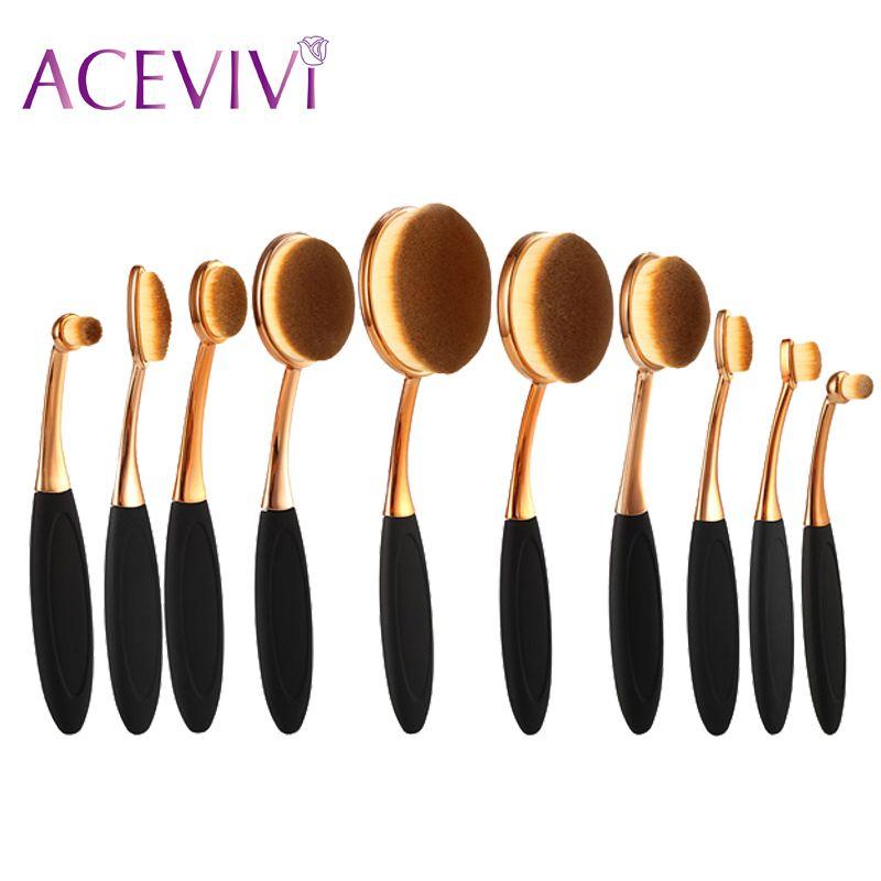 Profissional Maquiagem Rose Cor Dourada Escovas de Cosméticos Make Up Brush Tool Set Kits de Pincel de Base Em Pó
