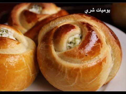 يوميات شري طريقة عمل معجنات علي شكل ورده محشوه بالجبنه Food Cooking Recipes Arabic Food