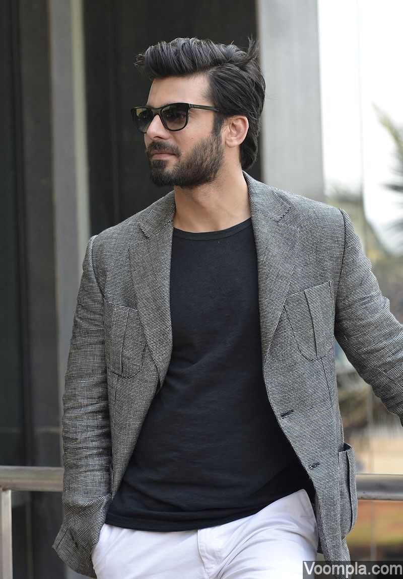 shirt hair styles fawad khan is all style in blazer t shirt and for 1672