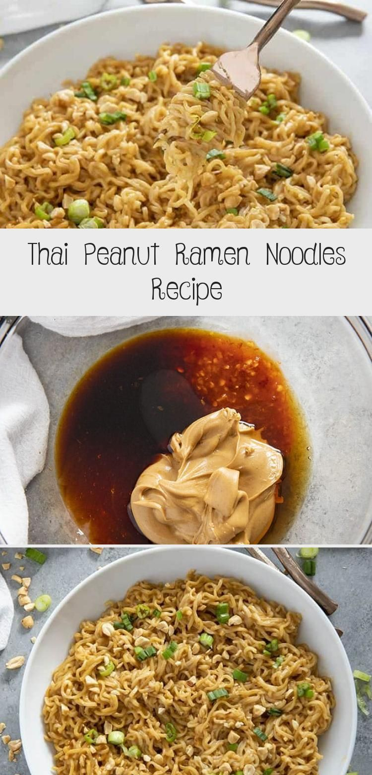 Thai Peanut Ramen Noodles gives instant ramen a makeover with a mouthwatering peanut sauce!  This easy ramen noodles recipe is ready in ten minutes! #ramen #ramennoodles #ramennoodlerecipes #easydinnerrecipes #noodles #RamenNoodlerecipe #GlutenFreerecipe #Grillingrecipe #Bestrecipe #StirFryrecipe #creamy ramen noodle recipe Thai Peanut Ramen Noodles Recipe - Best