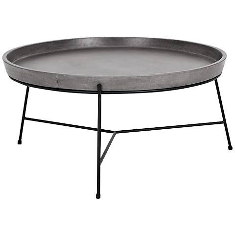 I Kind Of Love This A Lot What A Unique Table Remy Round Gray