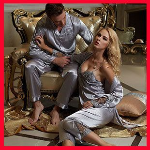 couple pajama sets silk pajamas robe onesie pijama men pajamas for ...