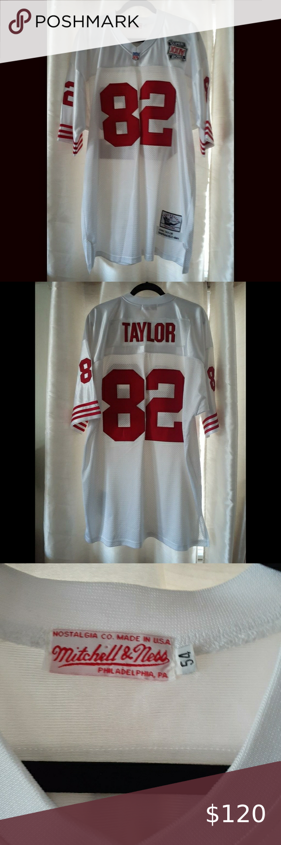 San Francisco 49ers Throwback Superbowl Jersey San Francisco 49ers Throwback Jersey Mitchell Ness Xxiv John Taylor I In 2020 Clothes Design Fashion Fashion Design