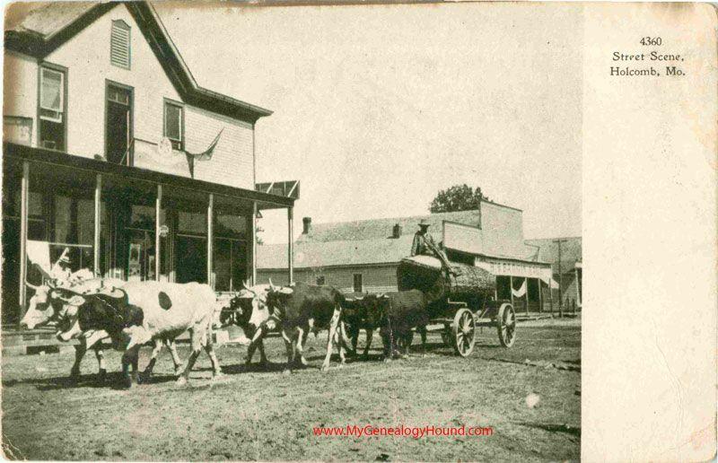 Holcomb Missouri Street Scene Vintage Postcard Historic Photo Street Scenes Historical Photos Vintage Postcard