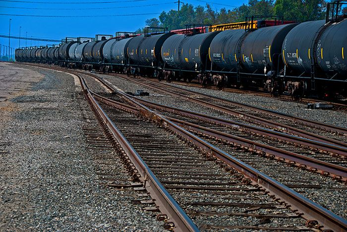 With recent oil train disasters, crude oil production in