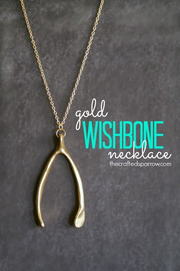 Gold wishbone necklace wishbone necklace gold and clay gold wishbone necklace great for fall im in love aloadofball