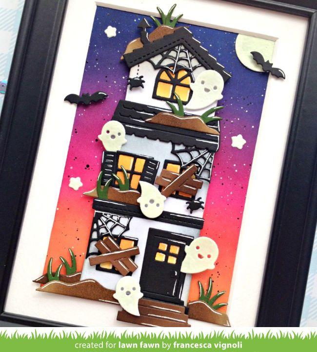 Franci's Spooky Glow-in-the Dark Halloween House! – Lawn Fawn