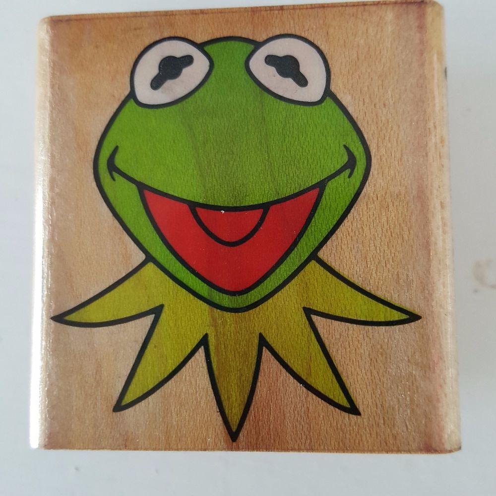 Sesame Street Kermit The Frog By Inkadinkado Rubber Stamp 3974 Vintage Rubberstamp