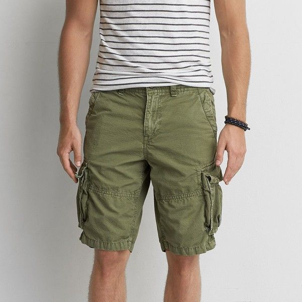 AE Longer Length Ripstop Cargo Short ($34) ❤ liked on Polyvore ...