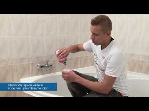 Remplacer un joint silicone - Tuto brico de Robert pour un joint - peinture pour joint silicone