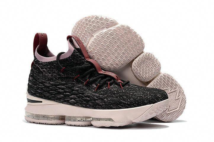 best sneakers 943c0 179ef 2018 New Style Nike LeBron 15 Mens Original Basketball Shoes Sneakers Coal  Black Grey Wine Pink  adidasbasketballshoes