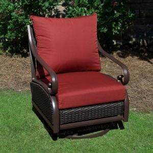 Plantation Patterns Hampton Bay Red Tweed Pillow Back Outdoor Deep Seating  Cushion Available At The Home