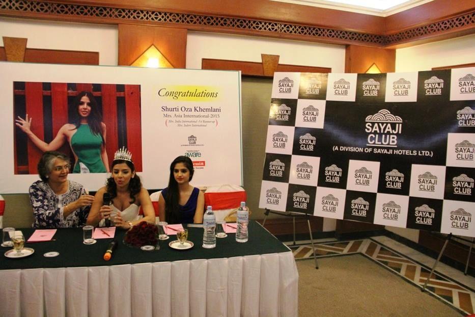 At the Press Conference at Sayaji Indore
