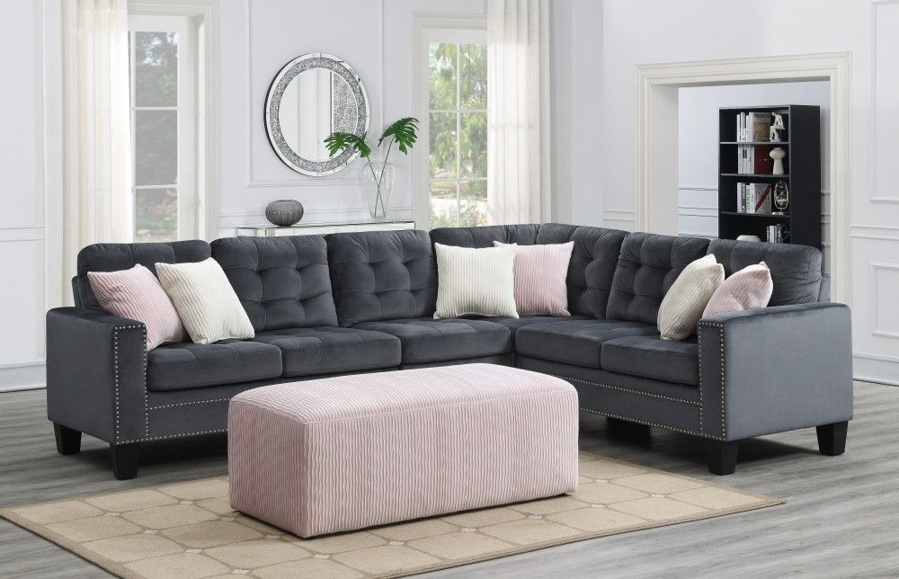 Melanie 2 Pc Sectional Sectional Sofa Sectional Sofas Living Room Living Room Sectional