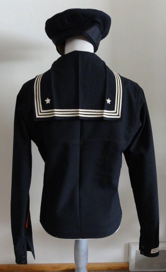 Vintage Men's USA Naval 1930's - 1940's Complete Sailor ...
