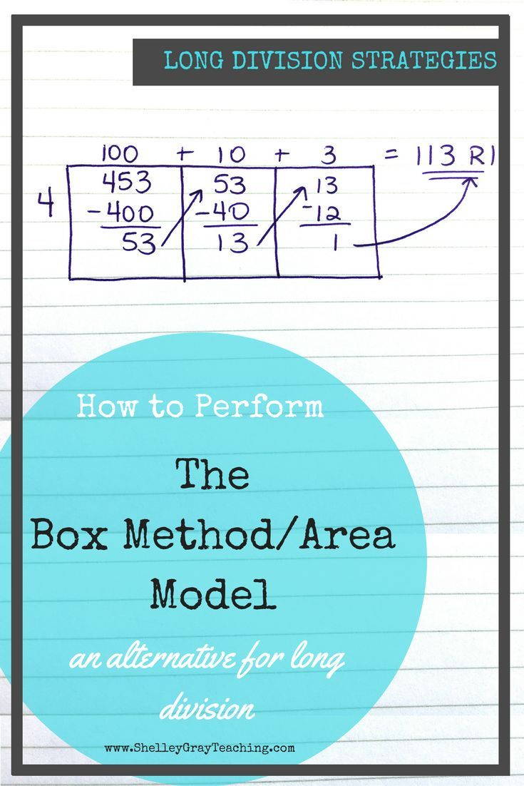 The Box or Area Method: an alternative to traditional long division ...
