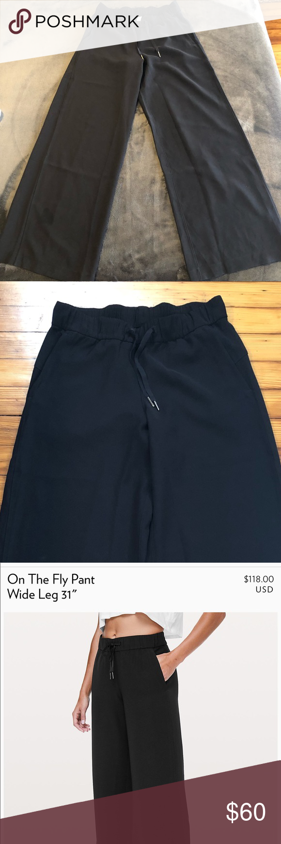 080e6c2091 Wide Leg On The Fly Pants from Lululemon. Currently retails for $118,  selling for $60. Only worn twice. lululemon athletica Pants Wide Leg
