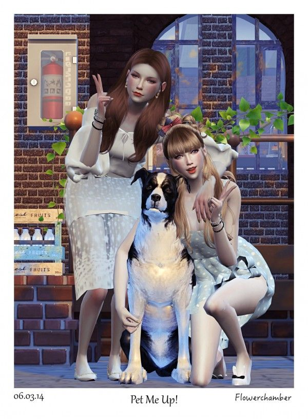 Flower Chamber PET ME UP! Poses Sets • Sims 4 Downloads