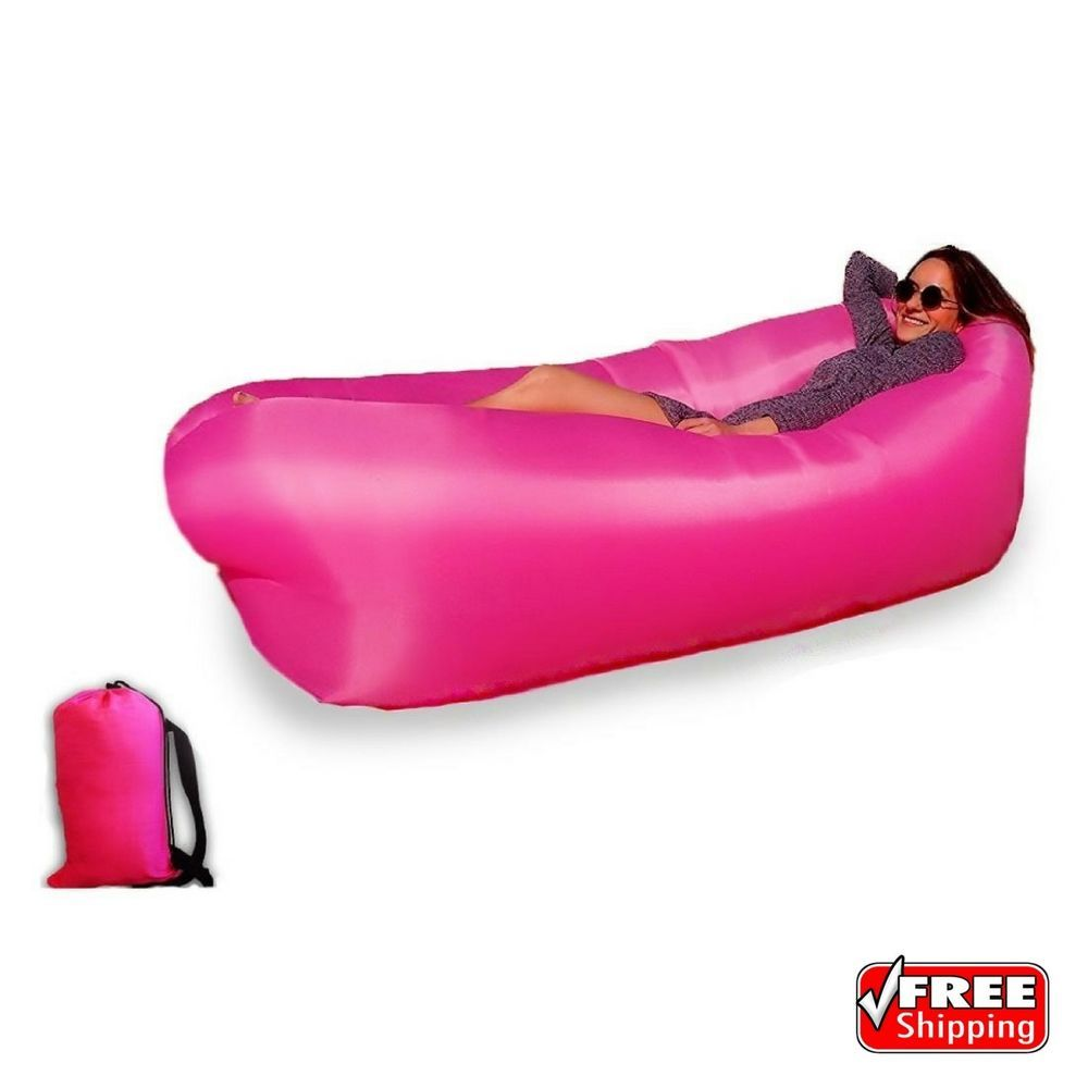 Outdoor Lazy Inflatable Couch Air Sleeping Sofa Lounger Bag