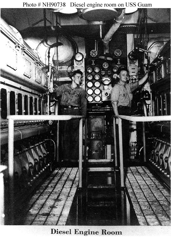 Spaceship Engine Room: CB-2 USS Guam's Diesel Engine Room In 1944