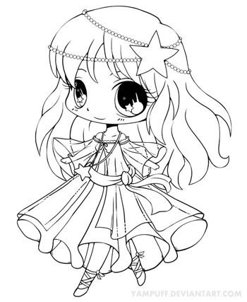 Our Collection Of Chibi Coloring Pages Features Some Cute Characters In Trendy Outfits Description