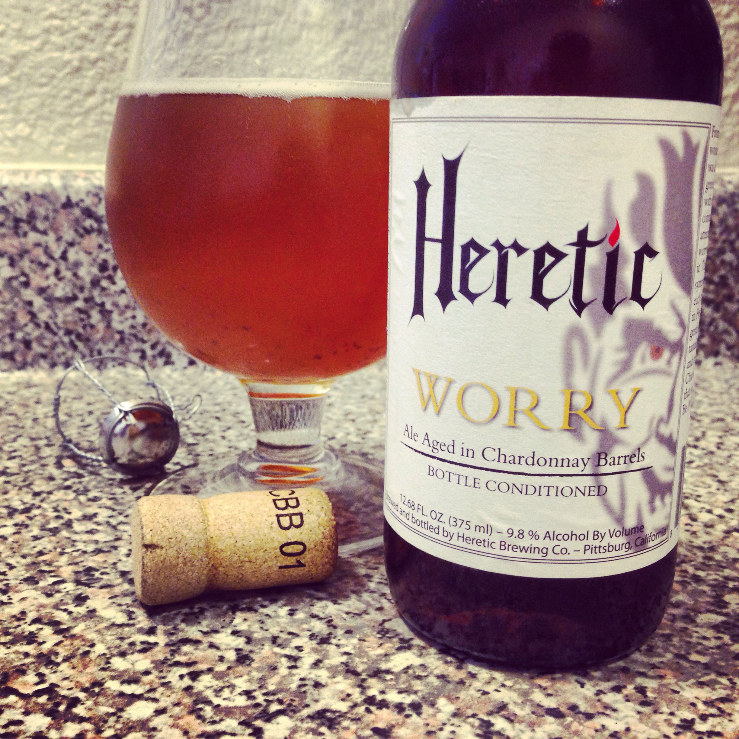 Heretic Worry Wine Bottle Craft Beer Alcoholic Drinks