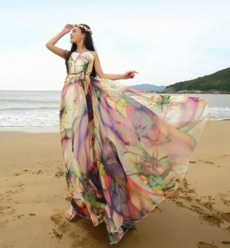 Sukienka Boho Lato 6861252555 Oficjalne Archiwum Allegro Flowy Dress Photography Maxi Bridesmaid Dresses Floral Bridesmaid Dresses