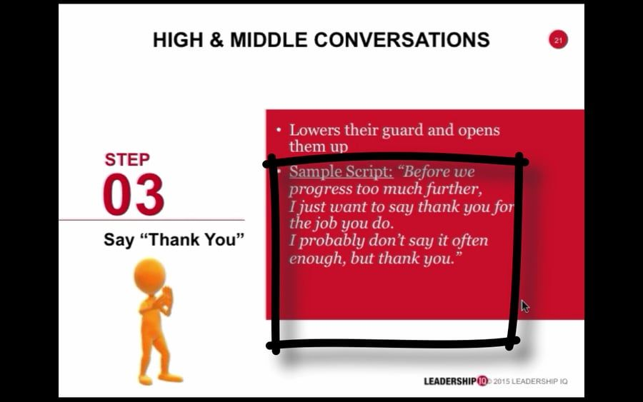 Taking The Pain Out Of Performance Reviews Step 3 thanking - performance reviews