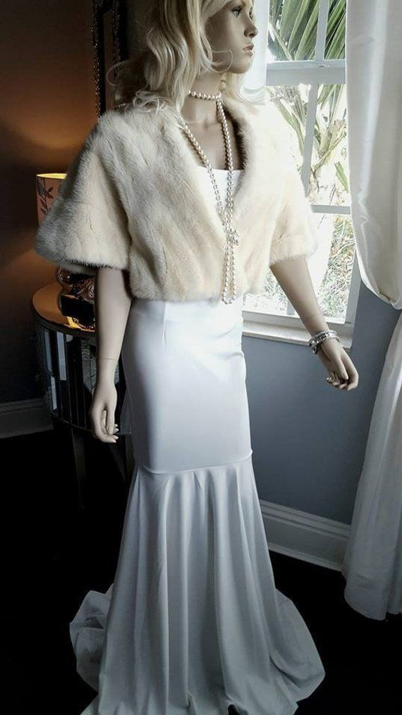 383dad59bd363 Best 12 Luxury Vintage Mink Fur Cape – Fur Stole – Bridal Bolero ...