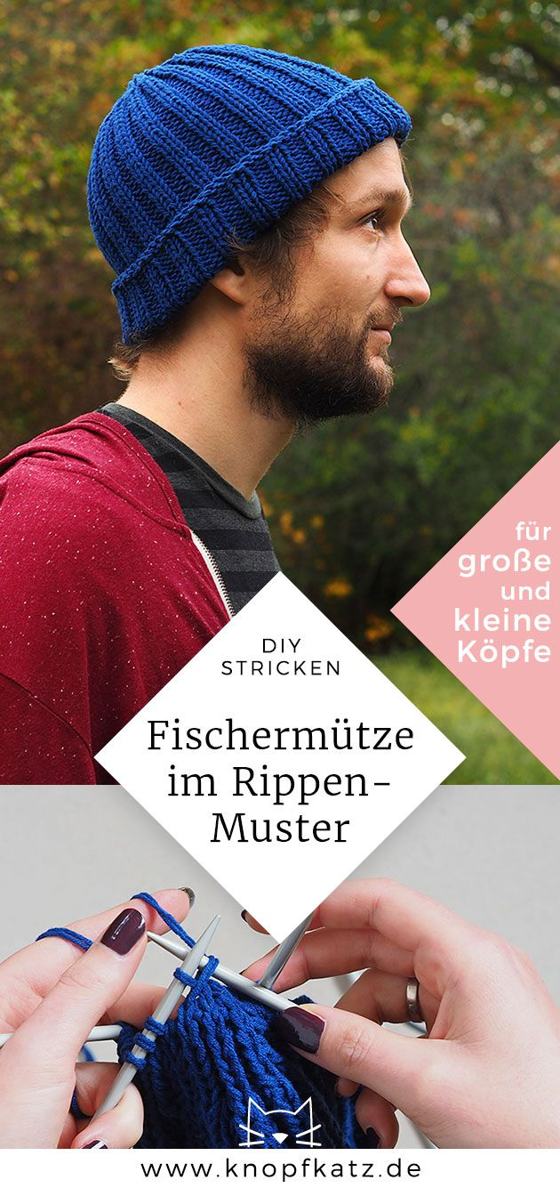 Photo of DIY: Grobe Fischermütze aus Baumwoll-Mix stricken | knopfkatz
