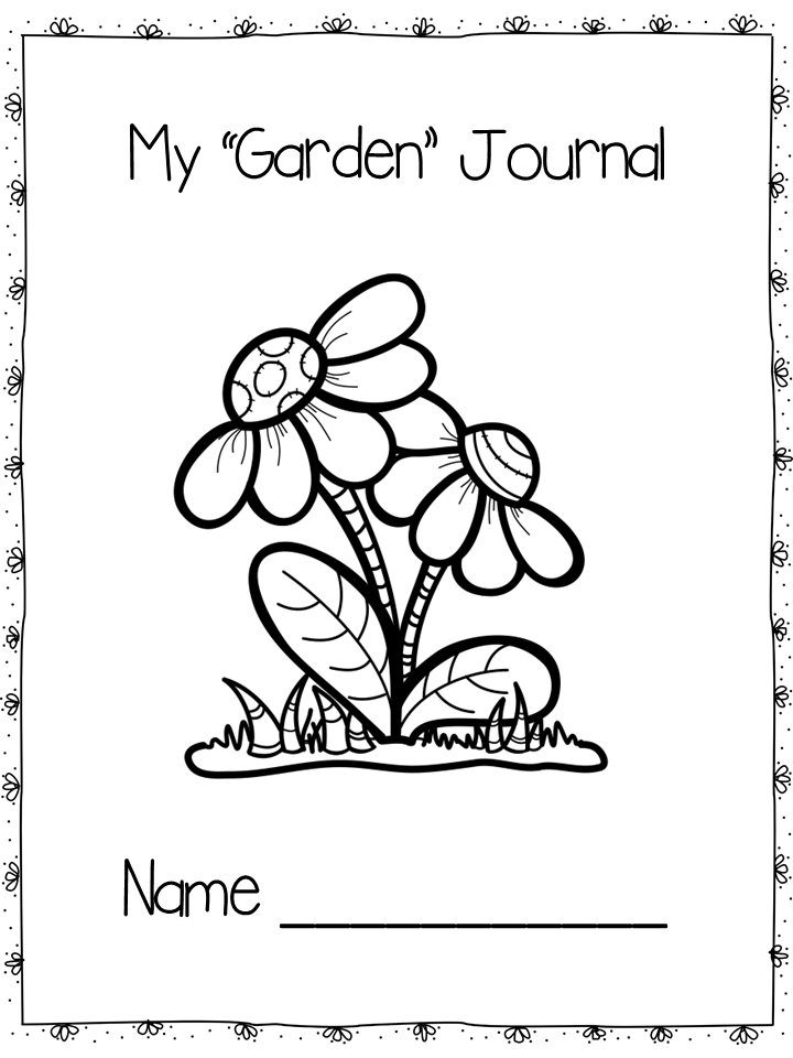 Garden Themed Journal Prompts and Story Starters Journal