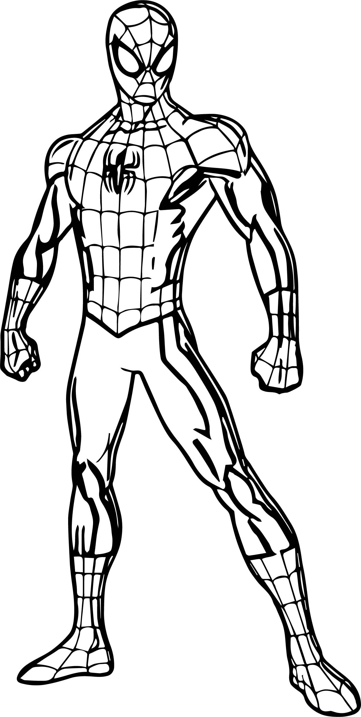 cool Spider Man Pose Coloring Page | Superhero coloring ...